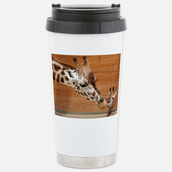 Kissing giraffes Stainless Steel Travel Mug