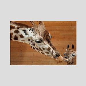 Kissing giraffes Rectangle Magnet
