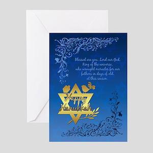 Hanukkah greeting cards cafepress hanukkah blessings greeting cards pk of 20 m4hsunfo