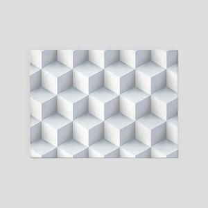 3d Cubic Pattern 5'x7'Area Rug
