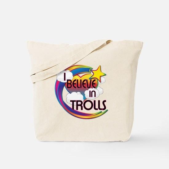 I Believe In Trolls Cute Believer Design Tote Bag