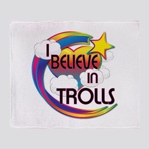 I Believe In Trolls Cute Believer Design Throw Bla