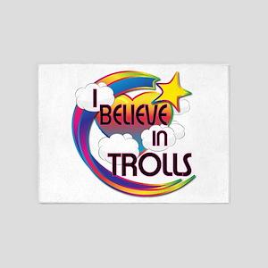 I Believe In Trolls Cute Believer Design 5'x7'Area