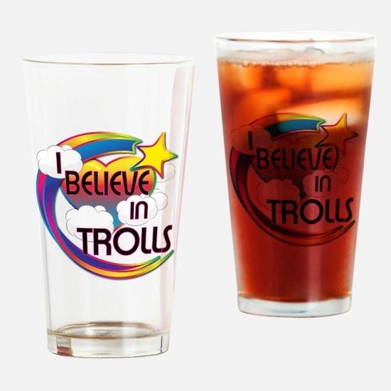I Believe In Trolls Cute Believer Design Drinking