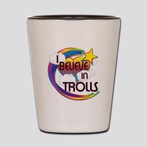 I Believe In Trolls Cute Believer Design Shot Glas