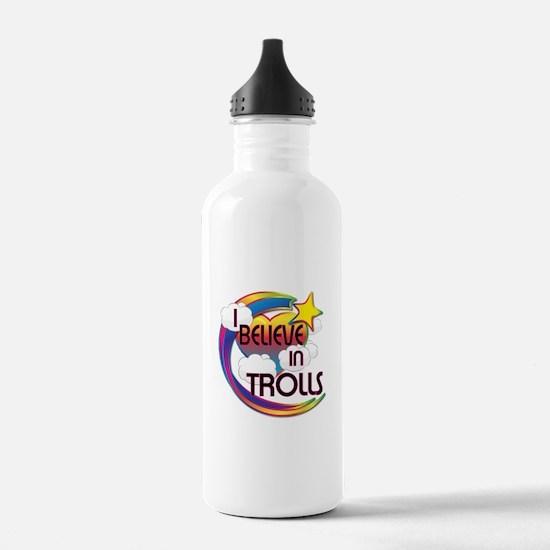 I Believe In Trolls Cute Believer Design Water Bottle