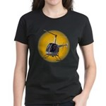 Womens Helicopter Dark T-Shirt Cool Chopper Gifts