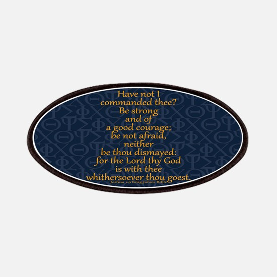 Joshua 1:9 Tapestry blue Patches