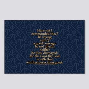 Joshua 1:9 Tapestry blue Postcards (Package of 8)