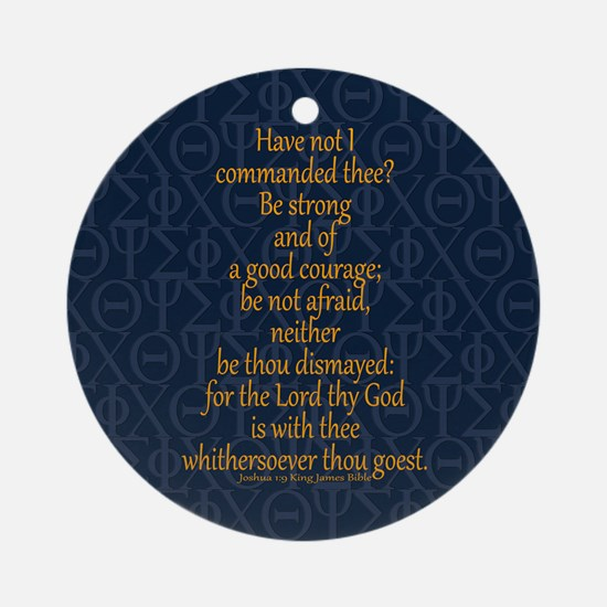 Joshua 1:9 Tapestry blue Ornament (Round)