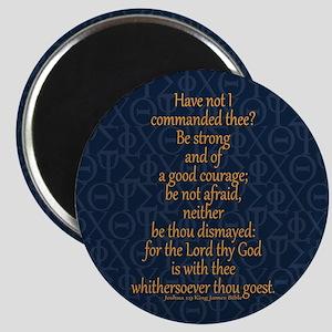 Joshua 1:9 Tapestry blue Magnet