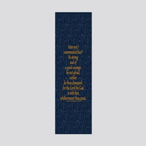 Joshua 1:9 Tapestry blue 36x11 Wall Decal