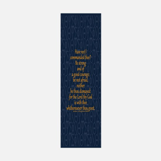 Joshua 1:9 Tapestry blue Wall Decal