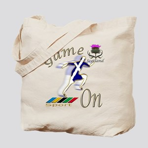 Scotland runner game on Tote Bag