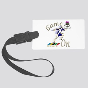 Scotland runner game on Large Luggage Tag