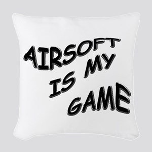 Airsoft is My Game Woven Throw Pillow