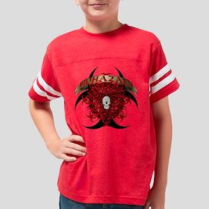 Biohazard with skull Youth Football Shirt