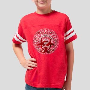Biohazard Swirl Wht Youth Football Shirt