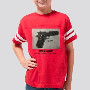 1911 in .45 ACP Youth Football Shirt