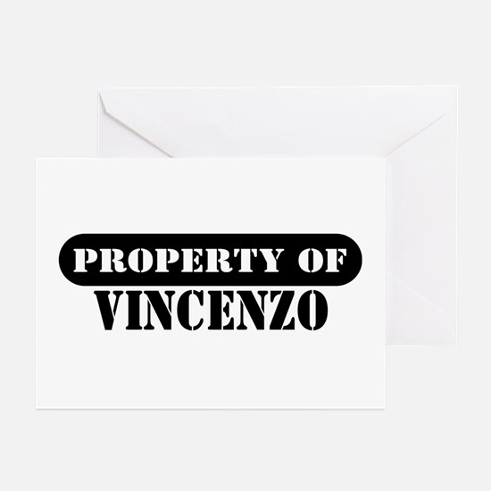 Property of Vincenzo Greeting Cards (Pk of 10)