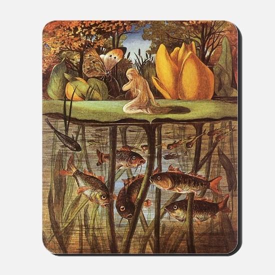 Vintage Thumbelina Fairy Tale Mousepad
