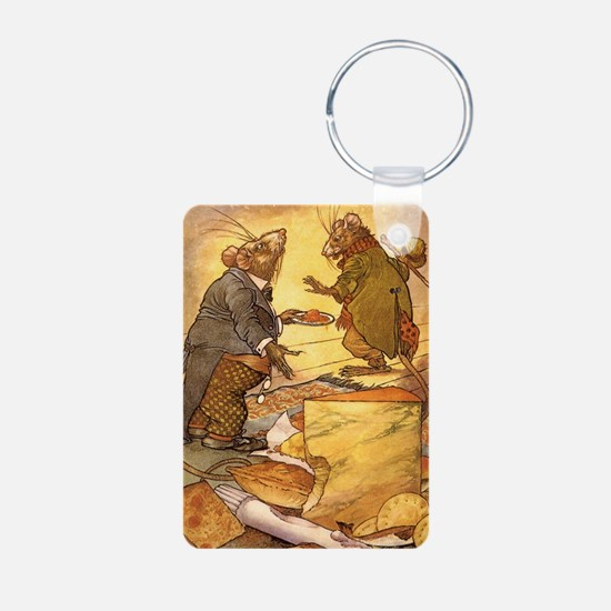 Vintage Fairy Tales Aluminum Photo Keychain