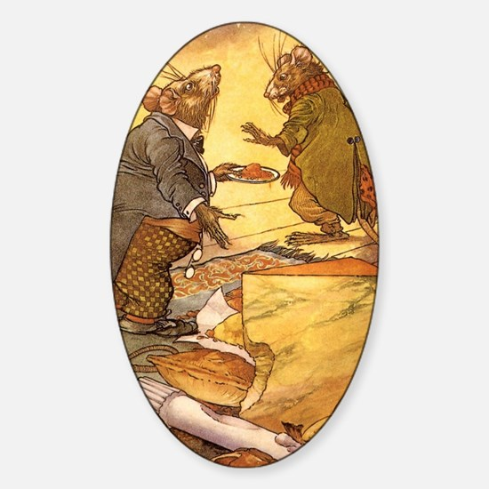 Vintage Fairy Tales Sticker (Oval)