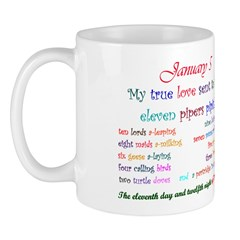 Mug: My true love sent to me eleven pipers piping