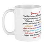 Mug: New Orleans, the first steamboat to navigate