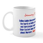Mug: Galileo Galilei discovered Callisto, fourth s