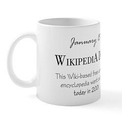Mug: Wikipedia Day This Wiki-based free content en