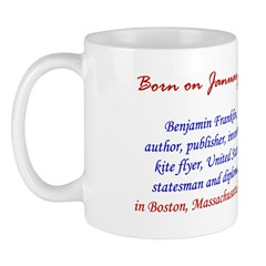 Mug: Benjamin Franklin, author, publisher, invento