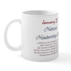 Mug: Handwriting Day celebrates the birthday in 17