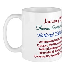 Mug: Thomas Crapper Day National Toilet Day commem