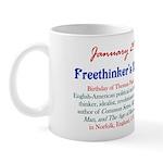 Mug: Freethinker's Day Birthday of Thomas Paine, E