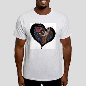 Sickle Cell Art 2 Ash Grey T-Shirt