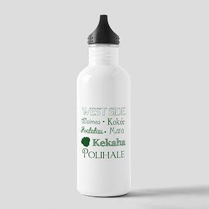 West Side Kauai Subway Art Water Bottle