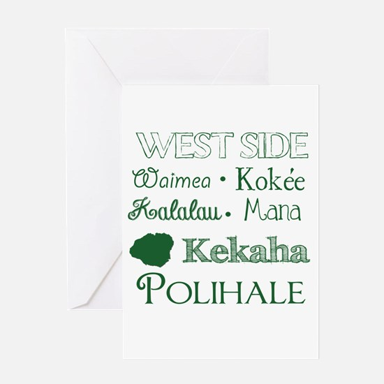 West Side Kauai Subway Art Greeting Cards