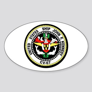 USS John F. Kennedy Oval Sticker
