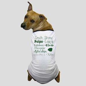 South Shore Kauai Subway Art Dog T-Shirt