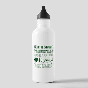 North Shore Kauai Subway Art Water Bottle