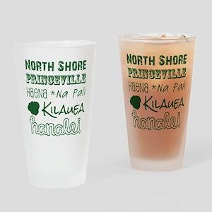 North Shore Kauai Subway Art Drinking Glass