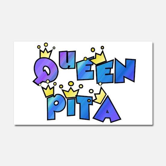 queen pita Car Magnet 20 x 12
