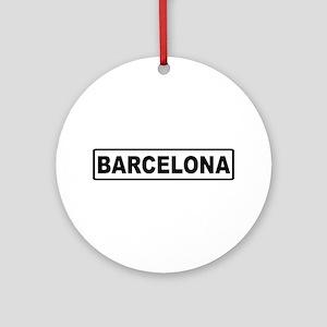 Roadmarker Barcelona - Spain Ornament (Round)