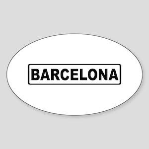 Roadmarker Barcelona - Spain Oval Sticker
