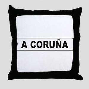 Roadmarker La Coruña - Spain Throw Pillow