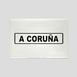 Roadmarker La Coruña - Spain Rectangle Magnet
