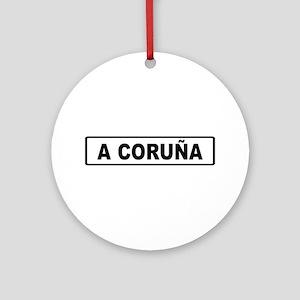 Roadmarker La Coruña - Spain Ornament (Round)