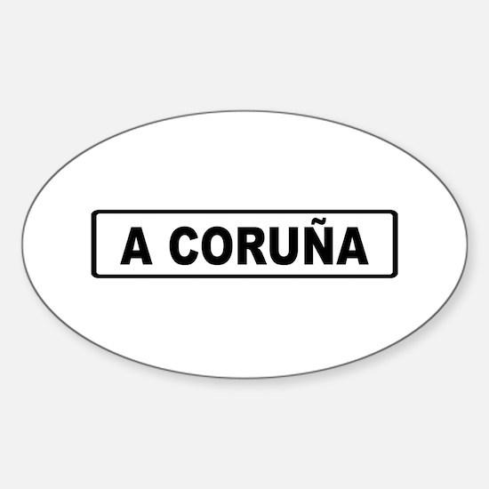 Roadmarker La Coruña - Spain Oval Decal