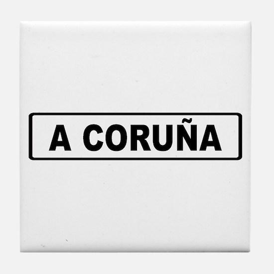 Roadmarker La Coruña - Spain Tile Coaster